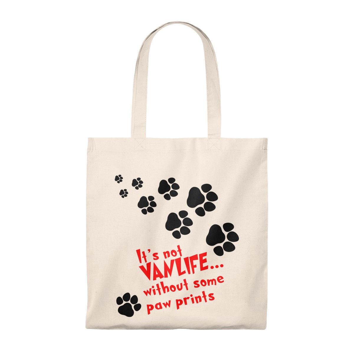 It S Not Vanlife Without Some Paw Prints Cotton Tote Bag